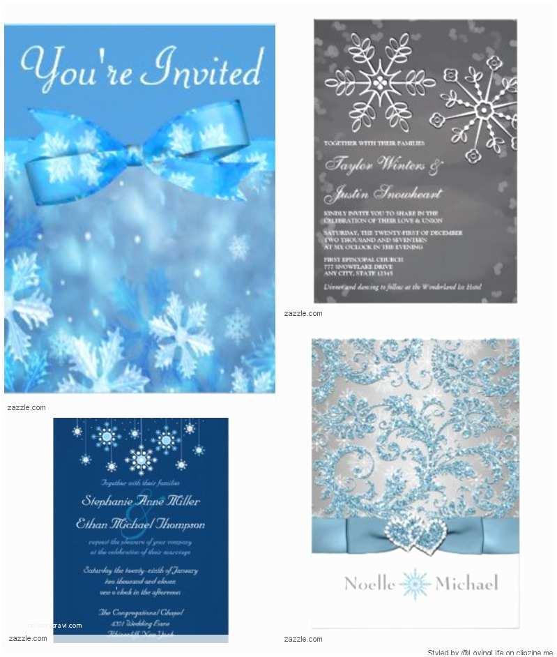 Winter Wonderland Wedding Invitations Beautiful Winter Wonderland themed Wedding Invitations