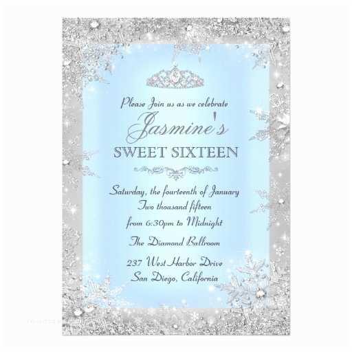 Winter Wonderland Wedding S Silver Winter Wonderland Blue Sweet 16