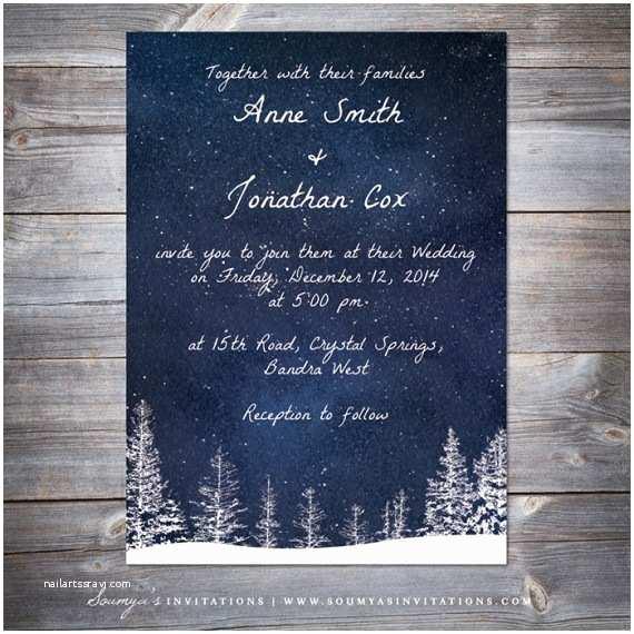 Winter Wonderland  Invitations Winter  Invitation Snow  Navy Blue