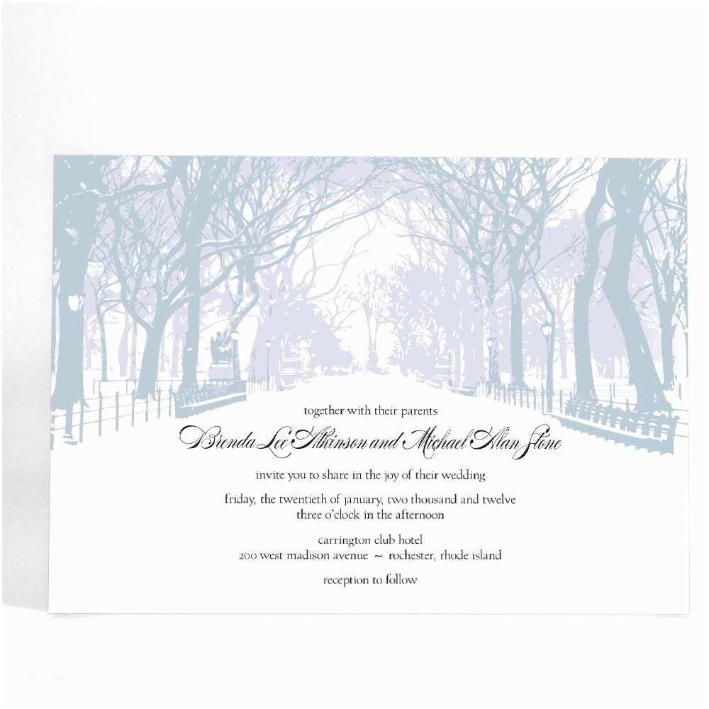 Winter Wonderland Wedding Invitations Winter Wedding Invitations With Trees Winter By Alook