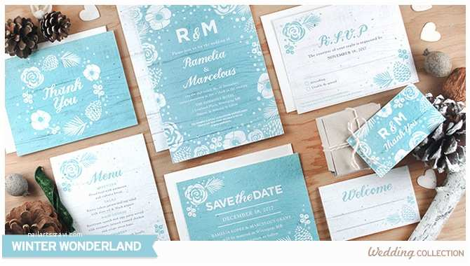 Winter Wonderland Wedding Invitations Winter Wonderland Catalog