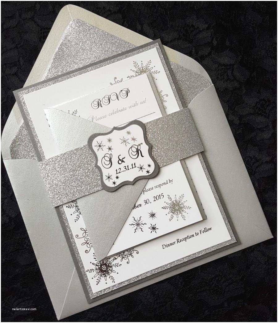 Winter Wonderland Wedding Invitations Winter Wonderland Foil Invitation Silver Foil Wedding