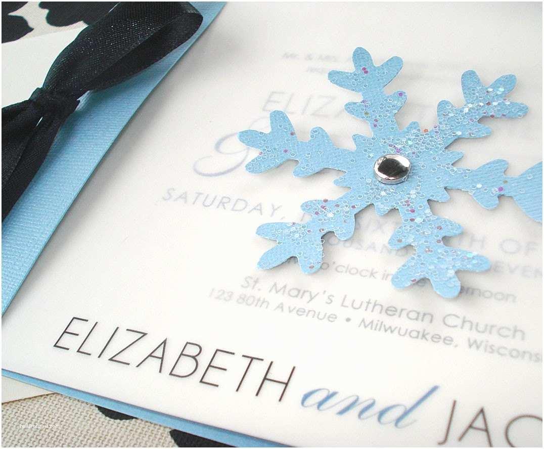 Winter Wonderland Wedding Invitations Winter Wonderland Snowflake Wedding Invitation or Save the