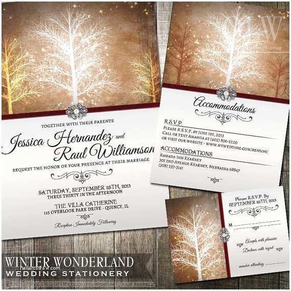 Winter Wonderland Wedding Invitations Winter Wonderland Wedding Invitation Rsvp and by Oddlotpaperie