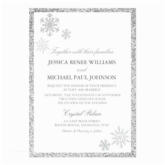 Winter Wonderland Wedding Invitations Winter Wonderland Wedding Invitations