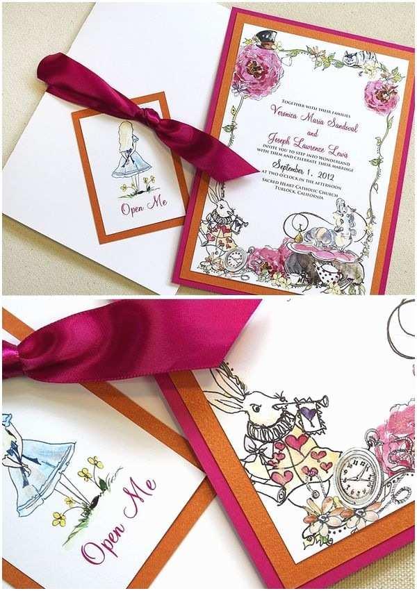 Wonderland Wedding Invitations 102 Best Images About Alice In Wonderland Wedding