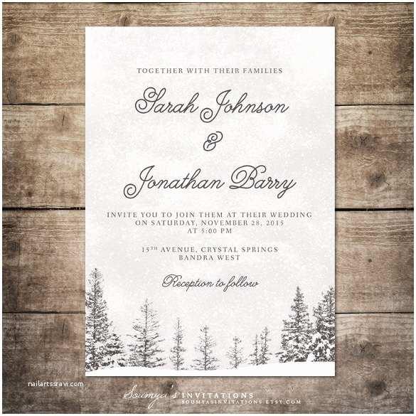 Wonderland Wedding Invitations 15 Winter Wedding Invitation Templates – Free Sample