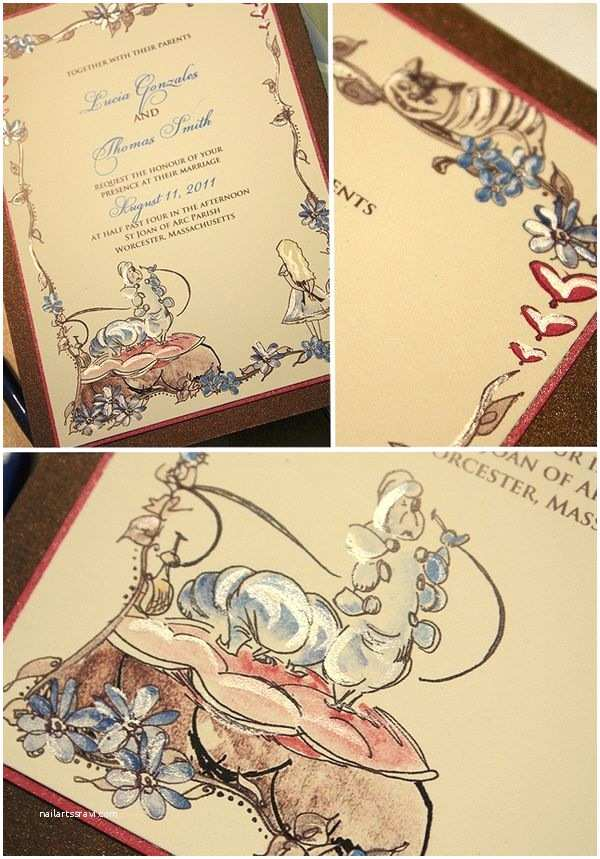 Wonderland Wedding Invitations Alice In Wonderland Wedding Invitations Curious Wedding