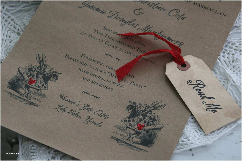 Wonderland Wedding Invitations Items Similar to Alice In Wonderland Wedding Invitation