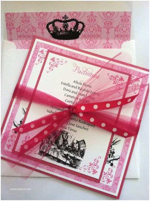 Wonderland Wedding Invitations Printed Alice In Wonderland Birthday Quinceanera Bridal