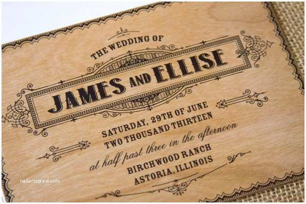 Wood Wedding Invitations Real Wood Wedding Invites From the Paper Paramour