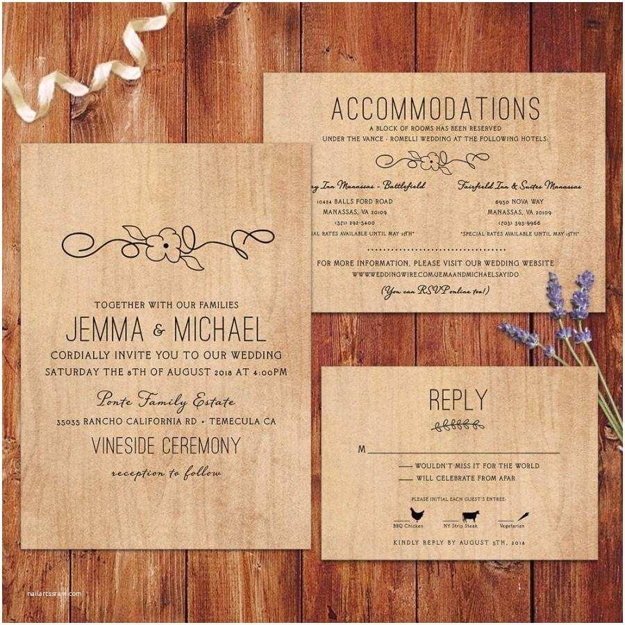 Wood Wedding Invitations Rustic Wedding Invitations Wood Background Wedding