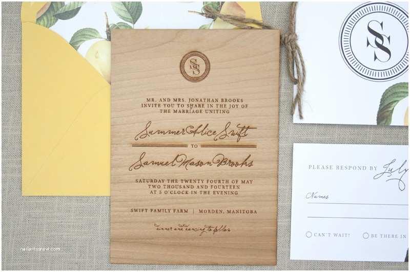 Wooden Wedding Invitations Elegant and Rustic Wood Engraved Wedding Invitations