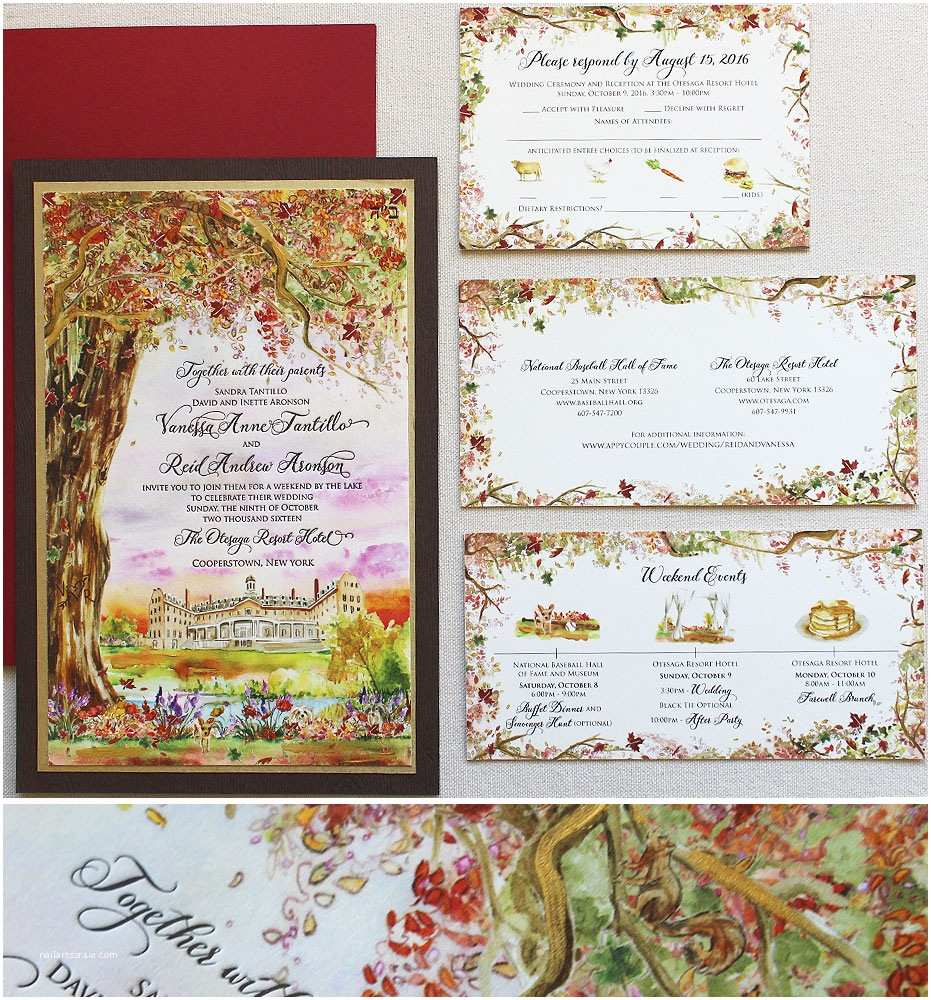 Woodland Wedding Invitations Autumn Woodland Wedding Invitation Momental