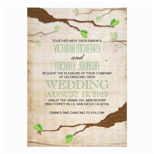 Woodland Wedding Invitations Elegant Rustic Woodland Wedding Invitations 13 Cm X 18 Cm
