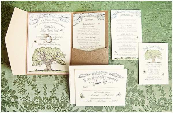 Woodland Wedding Invitations Krista Josh S Whimsical Woodland Wedding Invitations