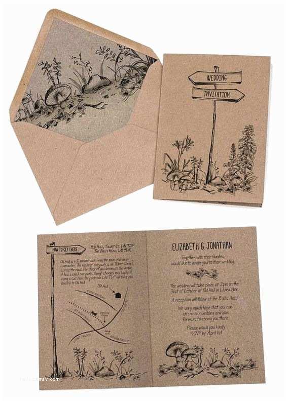 Woodland Wedding Invitations Wedding Invitation Rustic Woodland forest Invitation