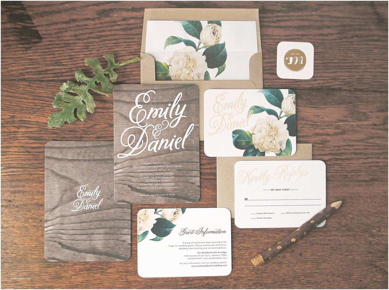 Woodland Wedding Invitations Woodland Floral Wedding Invitation & Correspondence Set