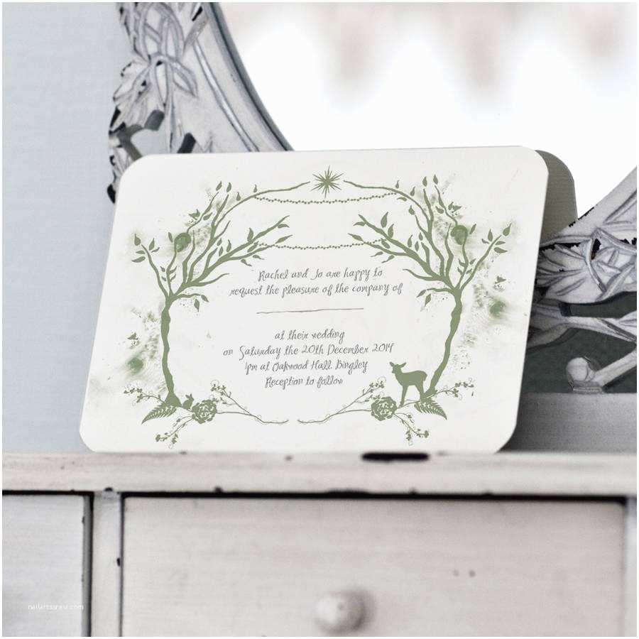 Woodland Wedding Invitations Woodland Wedding Invitation and Details Rsvp Card by