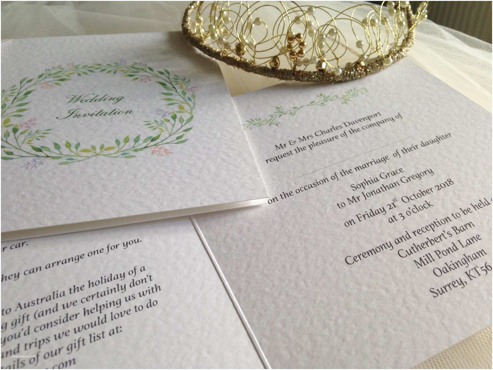 Woodland Wedding Invitations Woodland Wedding Invitations From £1 25