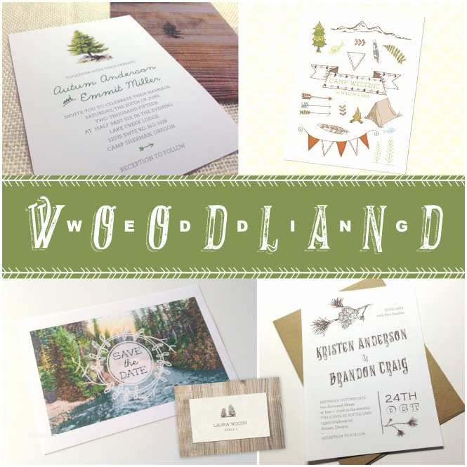 Woodland Wedding Invitations Woodland Wedding Invitations