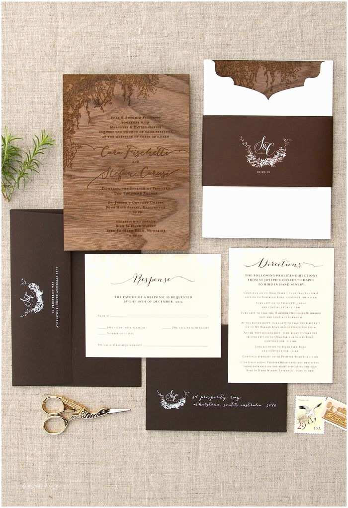 Woodsy Wedding Invitations 71 Best Nature Natural Wedding Stationery Images On