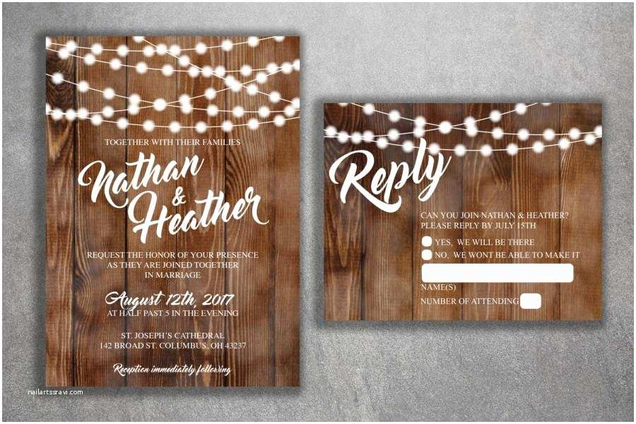 Woodsy Wedding Invitations Rustic Country Wedding Invitations Set Printed Cheap