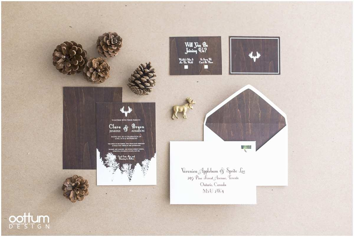 Woodsy Wedding Invitations The Woodsy Winter Styled