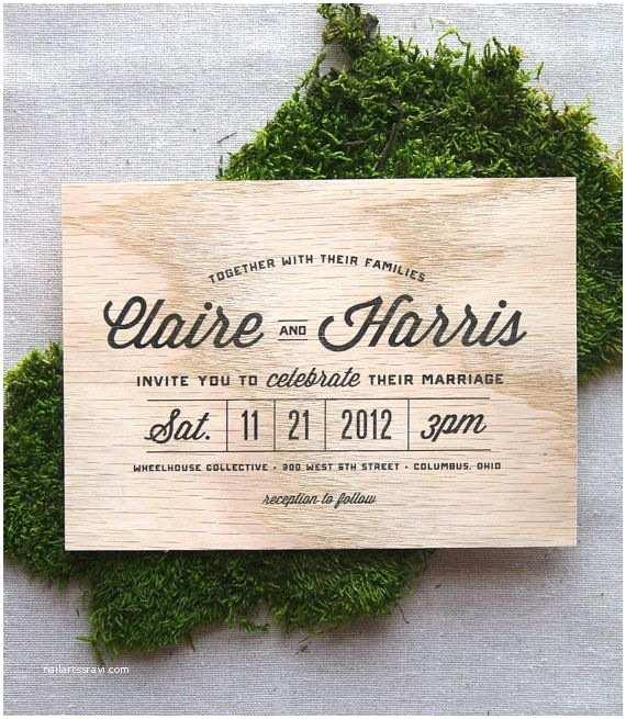 Woodsy Wedding Invitations top 25 Best Wood Invitation Ideas On Pinterest