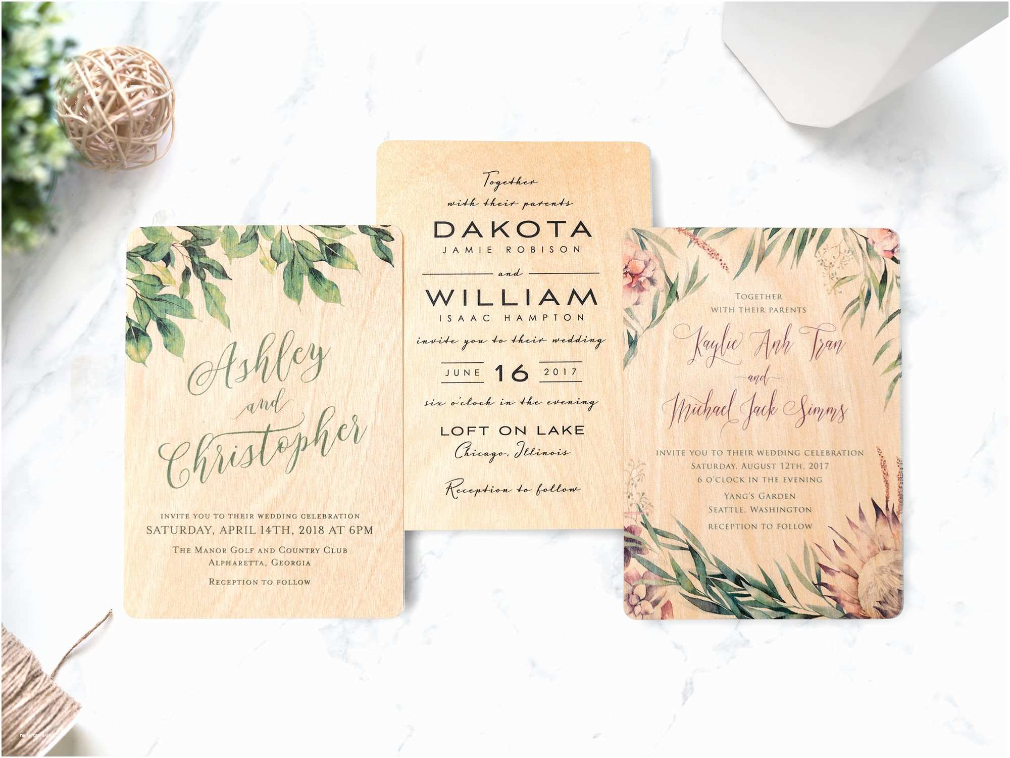 Woodsy Wedding Invitations Wood Wedding Invitations now Available at Woodsnap