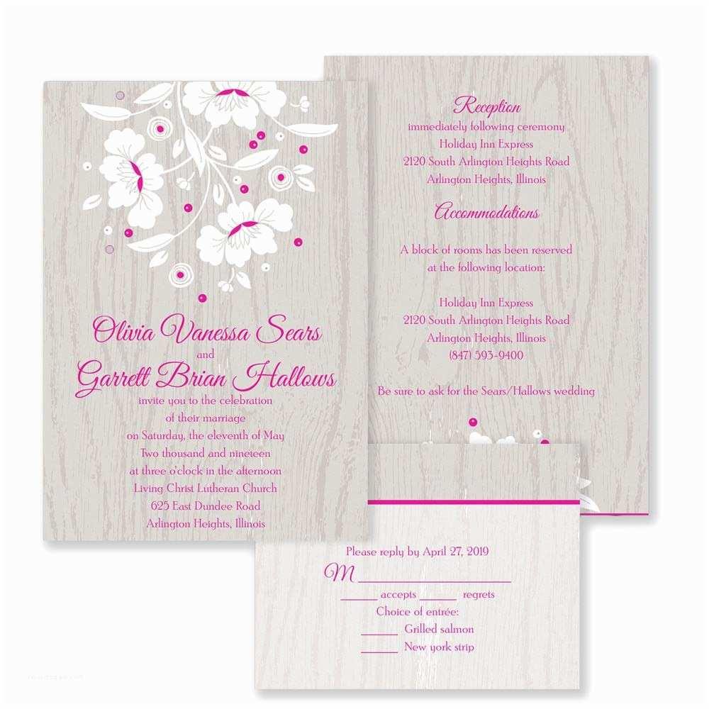 Woodsy Wedding Invitations Woodsy Flowers Wedding Invitations