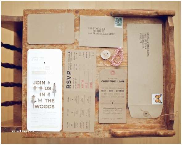 Woodsy Wedding Invitations Woodsy Rustic Style Wedding Invitation Rustic Wedding