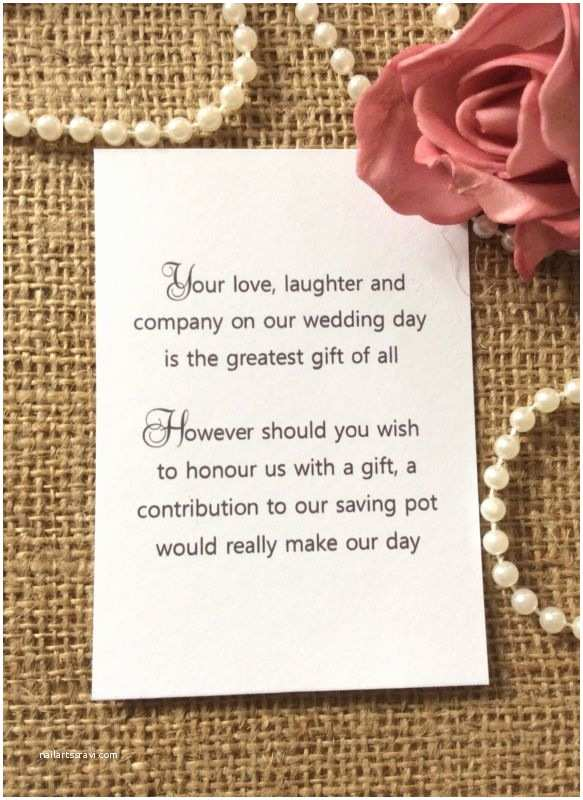 Wording for Cash Gifts On Wedding Invite 25 50 Wedding T Money Poem Small Cards asking for