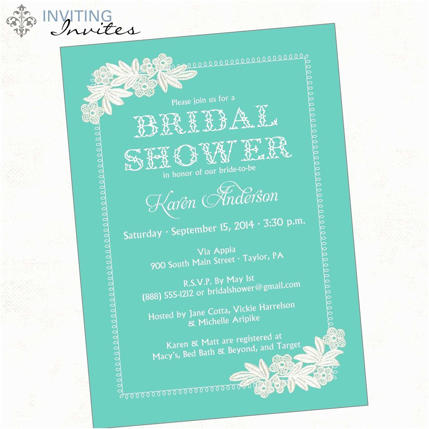 Wording for Cash Gifts On Wedding Invite Bridal Shower Invitation Wording Bridal Shower