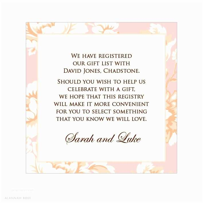 Wording for Cash Gifts On Wedding Invite T Card for Bridal Shower Wording
