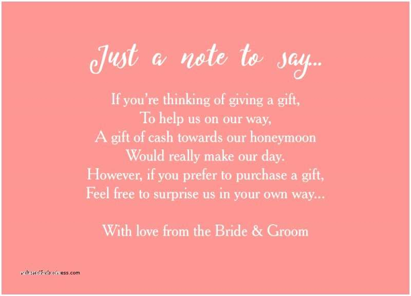 Wording for Cash Gifts On Wedding Invite Wedding Invitation Elegant Wording for Wedding