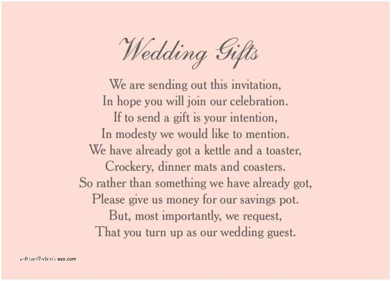 Wording for Cash Gifts On Wedding Invite Wedding Invitation Lovely Gift List Wording Wedding