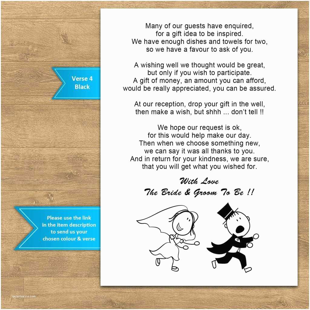 Wording for Cash Gifts On Wedding Invite Wedding Invitation Wording Examples asking for Money