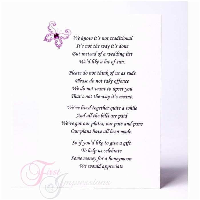 Wording for Cash Gifts On Wedding Invite Wedding Invitation Wording Money Instead Of Ts