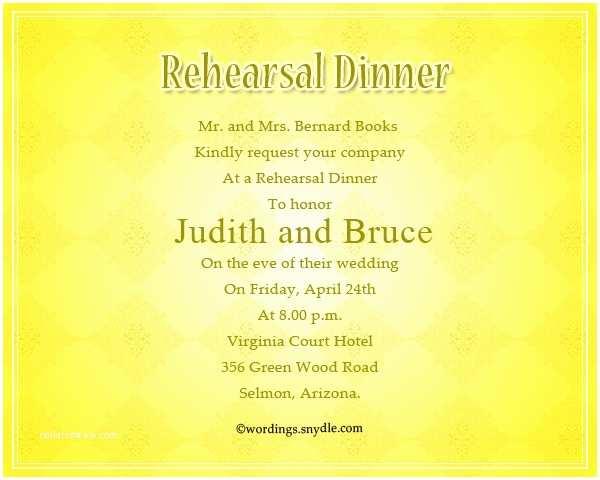 Wording for Rehearsal Dinner Invitations Wedding Rehearsal Dinner Invitation Wording Samples