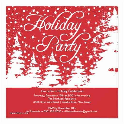 Work Christmas Party Invitation Christmas Tree Lined Paper