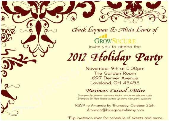 Work Christmas Party Invitation Custom Corporate Holiday Party Invitation W Crimson