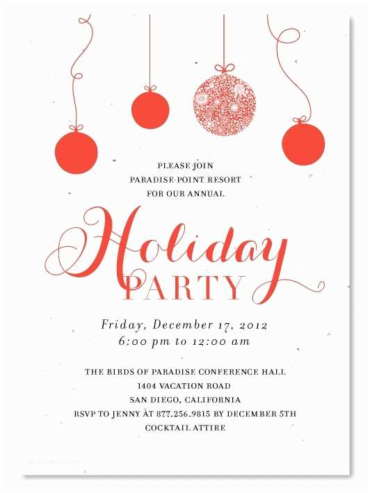 Work Christmas Party Invitation Holiday Party