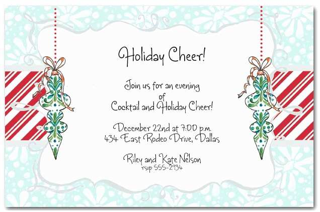 Work Christmas Party Invitation Work Christmas Party Invitation