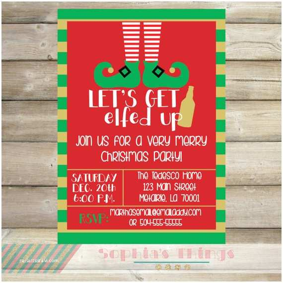 work christmas party invitations