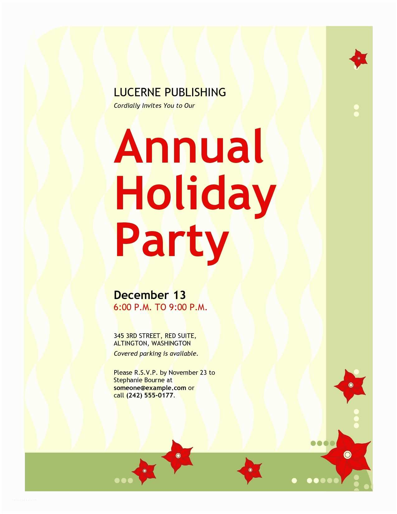 Work Christmas Party Invitation Work Holiday Party Invitation