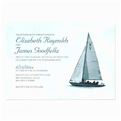 Yacht Wedding Invitation Wording Boat Wedding Invitations