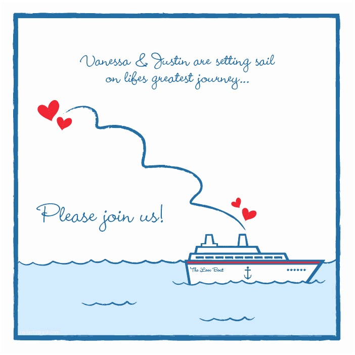 Yacht Wedding Invitation Wording Cruise themed Bridal Shower Invite I Co ordinated and