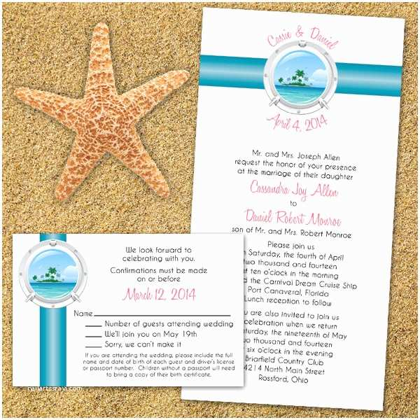 Yacht Wedding Invitation Wording Items Similar to Custom Tropical Cruise Wedding