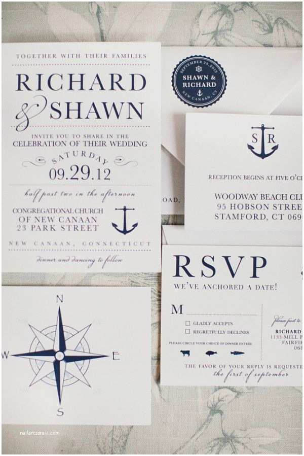 Yacht Wedding Invitation Wording Nautical Connecticut Wedding